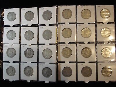 New Zealand Florin Full Set Include 1933 1934 1935 1936 8 Pearls  #NK