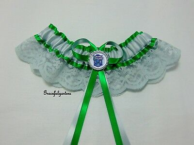 Harry Potter Slytherin Lace bridal wedding garter. deathly hallows