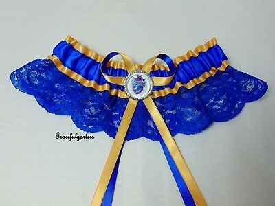 Harry Potter Ravenclaw Lace bridal wedding garter. deathly hallows