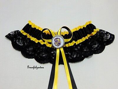 Harry Potter Hufflepuff Lace bridal wedding garter. deathly hallows