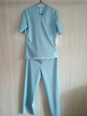 Latex Rubber Docoter Uniform with Masks Rubber Nurse Professional Clothing Sets