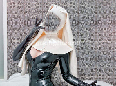 Latex Rubber Gummi Women Nun Headdress Mask Masque Fancy Ball Maske Size XXS-XXL