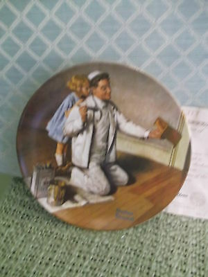 The Painter #7 Ltd Ed. Knowles Rockwell Heritage Collection series Plate