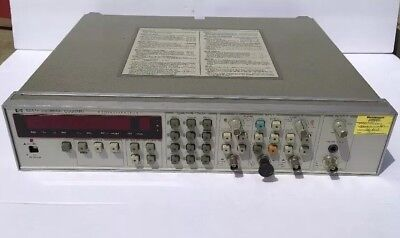 HEWLETT-PACKARD 5334A 100 MHz UNIVERSAL COUNTER OPTION  010-030 POWERS ON READ