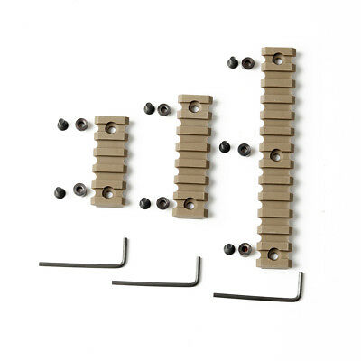 3PCS Keymod 5 7 13 Slot Set Picatinny/Weaver Rail Handguard  ABS plastic TAN