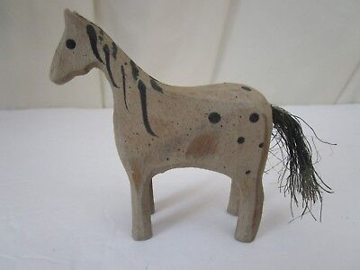 Horse Wooden Hand Crafted Miniature Figurine