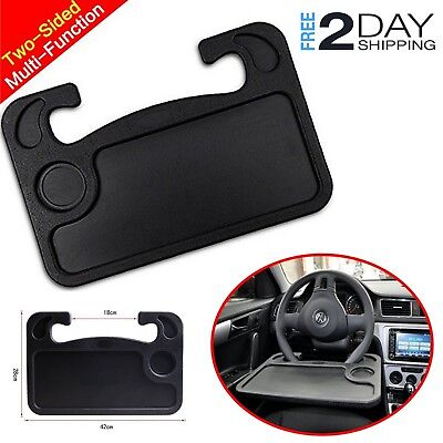 Car Steering Wheel Mount Tray Desk Eating Food Table Work Laptop Stand Holder