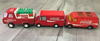 Lot Of 3 Tin Coca Cola Truck RALSTOY LIMITED EDITION NUMBER #1 & two More