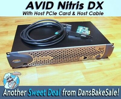 Avid Nitris Dx w/ Host PCIe Card & Cable  -Tested in HD & SD