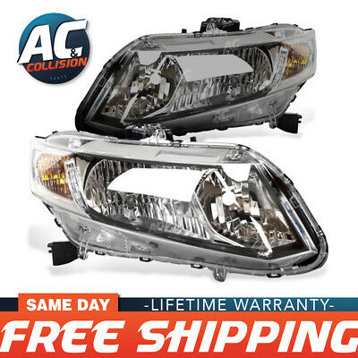 Headlight Assembly Right and Left Sides for 2013 - 2015 Honda Civic