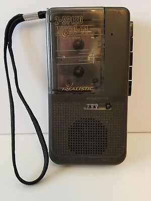 2 Speed MICRO-14 Realistic Microcassette Tape Recorder Radio Shack 14-1175 WORKS