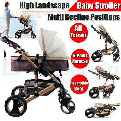 Compact Lightweight Baby Toddler Stroller Pram Easy Fold Carry Travel Pushchair