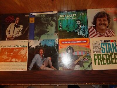 Vintage Lot of 8 LP Records Blues 70's-80's Mixed Music Country Orchestra #3
