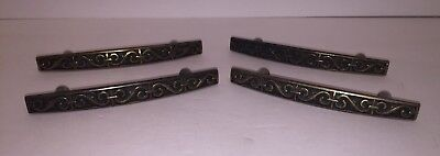 Antique Vintage Brass Drawer Pulls Knobs Handle Lot Dresser Hutch China Cabinet