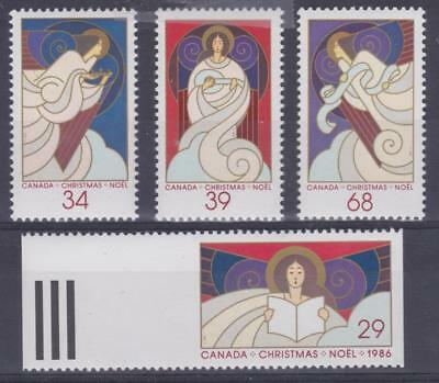 Canada 1986 # 1113 to 1116 Christmas Angels - set of 4 - MNH