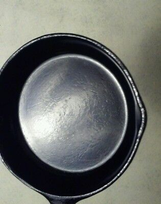 "Vintage Cast Iron Skillet Frying Pan Unmarked Very Smooth Seasoned 7"" Cooking"