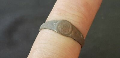 Lovely Post Medieval copper alloy posy type ring  Please read description L493