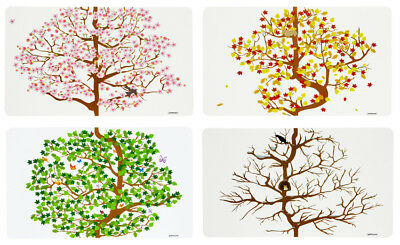 4 Seasons Placemats Set of 4 Spring Summer Autumn Winter Table Setting 43.5x28.2