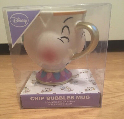 Officially Licensed Disney Beauty and the Beast Ceramic Chip the Cup Bubbles Mug