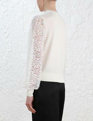 Zimmermann Cream Lace Knit Sweater New With Tags Sz 3 Rrp$350
