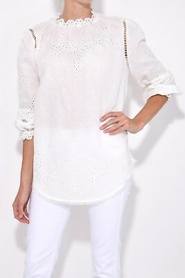 Zimmermann Paradiso Embroidered Blouse Sz 0 Nwt Rrp$450
