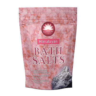 Himalayan Elysium Spa Epsom Bath Salts Help Relax & De-Stress Body Salt Pack 1Kg