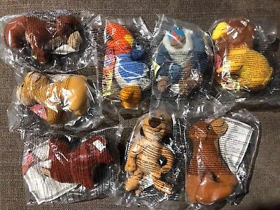 Complete Set 8 Mcdonalds Happy Meal Lion King Toys 1998 Sealed In Packets