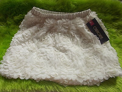Cherokee Woven Dress Skirt Youth Girls Size S/P 6/6X Ivory NWT