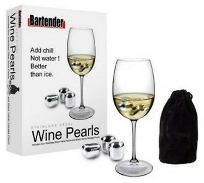 New D.line Bartender Stainless Steel Wine Pearls Set Of 4 Pieces Champagne Wine