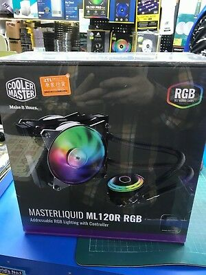 NEW COOLER MASTER MasterLiquid ML120L RGB AIO Cooler - $117 00