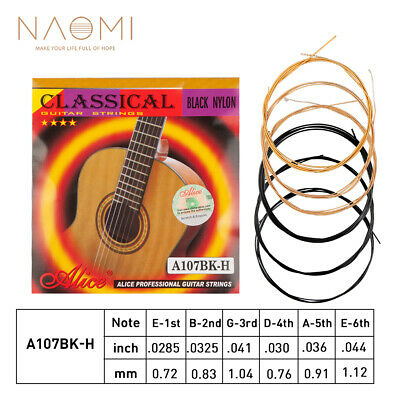 Alice A107BK Classical Guitar Strings Black Nylon H85 Coated Bronze Copper