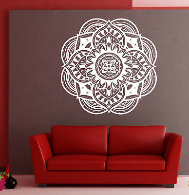 Vinyl Wall Decal Stickers Circle Ornament Mandala Meditation Decor (n861)