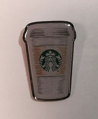 "New Starbucks To Go Cup Lapel Pin New Release 2017 Butterfly Clasp 1"" Tall"