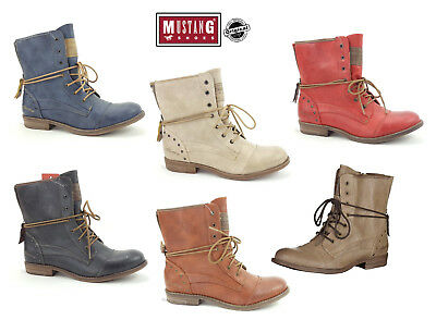 ab26997264c94 New Mustang Women s Boots Shoes Summer Lace-up Boots Ankle Boots 1157-508