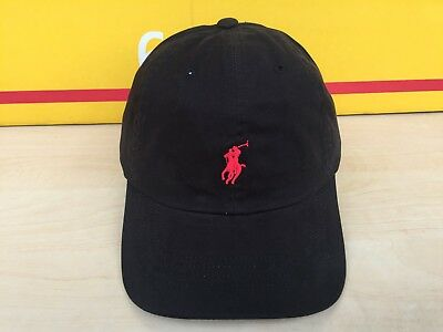 Polo ralph lauren cap baseball black with red 50% off summer sell