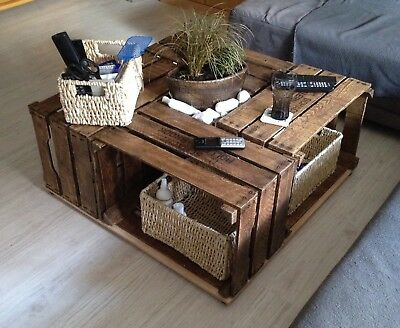 couchtisch weinkisten aus holz eur 1 00 picclick de. Black Bedroom Furniture Sets. Home Design Ideas
