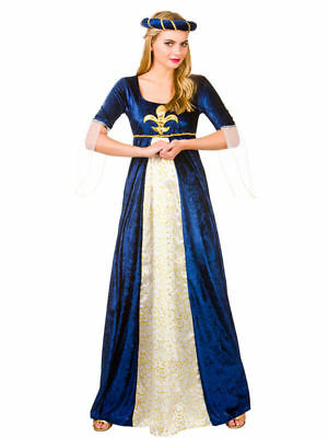 Ladies Fancy Dress MEDIEVAL MAIDEN Deluxe Costume Historical MIDDLE AGES Outfit