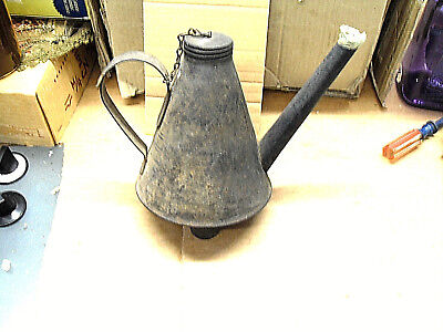 Vintage/Antique EAGLE Railroad Oil Filler RR Can NOV. 12, 1912 embossed w/ long&