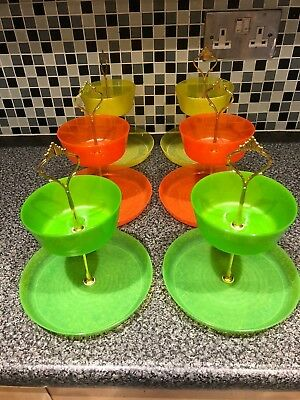 Job lot 6 Party Food Cake Stands Afternoon Tea,Weddings Childrens Party 2 Tier