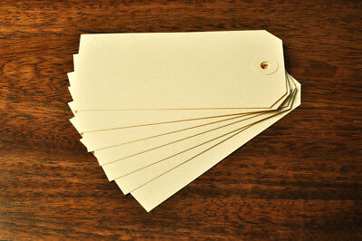 Box Of 500 Cream Unstrung Tags 120Mm X 60Mm Craft Gift Labels  Matching Washers