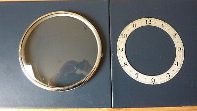 Old Vintage Clock Bezel and Chapter Ring - Clock parts