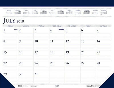 House of Doolittle 2-Color Academic Desk Pad, 2018 to 2019, 18-1/2 x 13 Inches