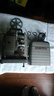 Bell & Howell 253 AX 8mm Movie Projector with Cover in Original Box