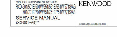 Kenwood Rxd-A5 A8 501 551 571S 701 751 771S Component System Service Manual Eng