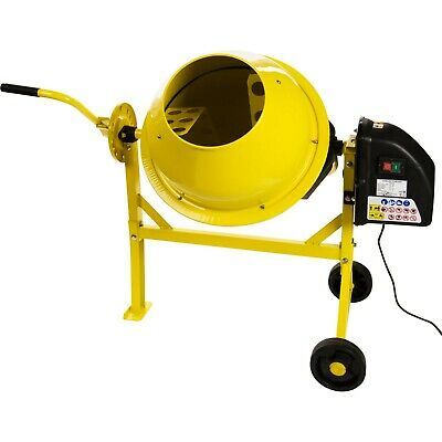63L Electric Portable Cement Concrete Plaster Mortar Mixer 240v