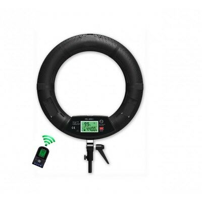 """Very bright 18"""" 96W LED Ring Light with LCD Screen and Remote Control"""