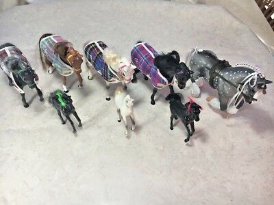 Lot of mixed Empire Grand Champion horses moveable parts Colts, Mares, Stallions