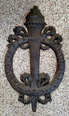 Rare Antique Art Nouveau Wall Art - Architectural Salvage - Sconce & Flame