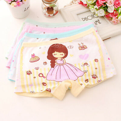 Baby Girl Kids Cotton Soft Cartoon Princess Shorts Underwear Panties Showy