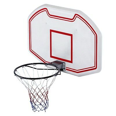 Wall Mounted Basketball 90x60cm Backboard with Height Adjustable 2.1m - 2.6m